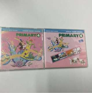 Yamaha Junior Music Course (JMC) Pri 4 CD & DVD