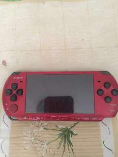 Selling my PSP red x black colour