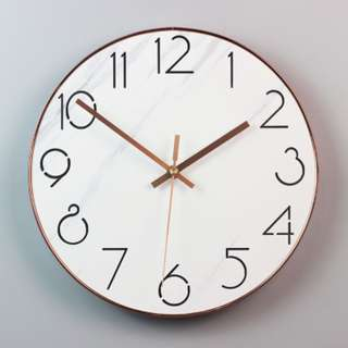🚚 instock MARBLE PATTERN WALL CLOCK 14 INCH