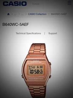 Casio rose gold watch