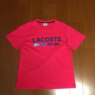 🚚 (Size M) Lacoste 粉色短袖上衣