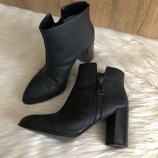 Senso Quartz leather boots (37) black near new