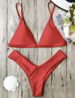 BNWT Zaful - Red Spaghetti Strap Bikini