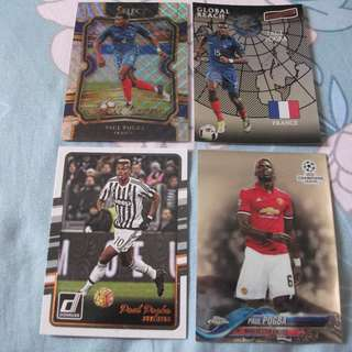 Paul Pogba Panini/Topps trading cards for sale/trade (Lot of 4 cards)