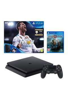 PS4 SLIM RENTAL *with FIFA 18 / God Of War*