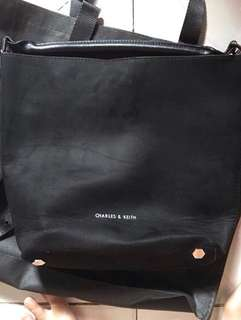 Charles & Keith Black Tote Bag / Tas / Bag / Shoulder Bag