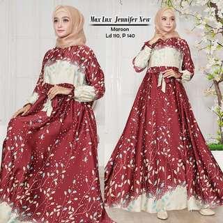 Pre order Max Lux Jennifer dress long sleeve Muslimah blue black red green