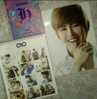 Infinite Season Greeting OFFICIAL 2012 Calendar, Hoya Second Invasion Evolution Official A4 clearfile,Infinite FLY HIGH Hoya Dongwoo Album Official