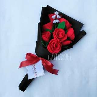 Buket Bunga Flanel / Bunga Mawar