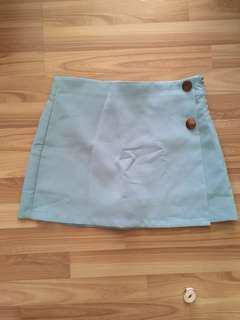 Baby blue A-line skirt