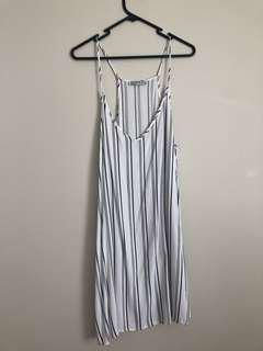 Cotton on white and black stripe dress
