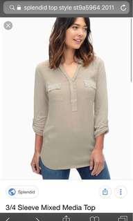 Splendid long sleeve top blouse