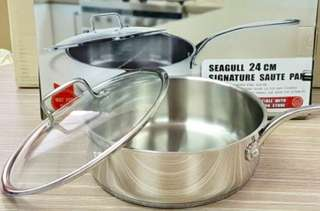 🆕Seagull 24cm signature source pan