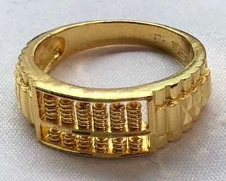 Gold Ring with Abacus (916)✅