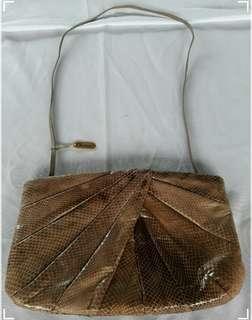 CLEMENTE VINTAGE SNAKESKIN HAND BAG
