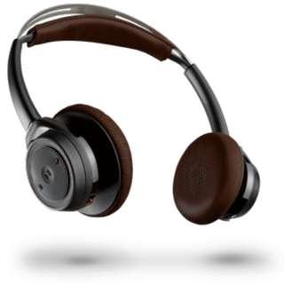 🚚 Plantronics Backbeat Sense Wireless Headphones + Mic (Black) W/Flight Adapter