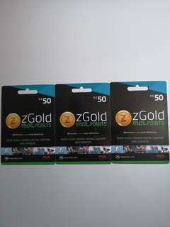 ZGold MOL Points - $50 x 3 Gift Cards
