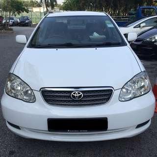 $220 Weekend Car Rental Toyota Altis 2007