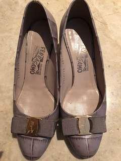 Salvatore Ferragamo Shoes紫色高跟鞋6.5C