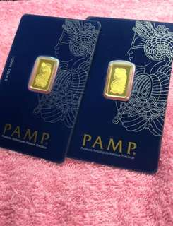 PAMP - 2.5 g pure gold bars ✅