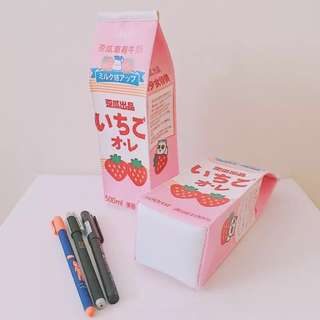 meiji strawberry milk box case {po}