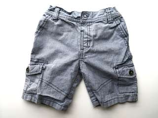 PRELOVED TARGET Baby Boys Blue Small Checks Cotton Short Pants - in very good condition