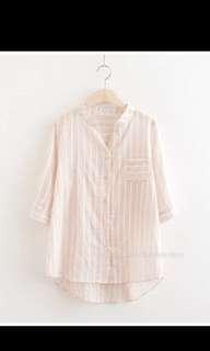 BNWT Pink cotton shirt
