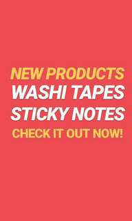 [PREORDER] WASHI TAPES & STICKY NOTES