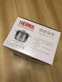全新Thermos 24cm不鏽鋼煲