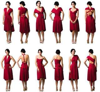 Red versatile dress