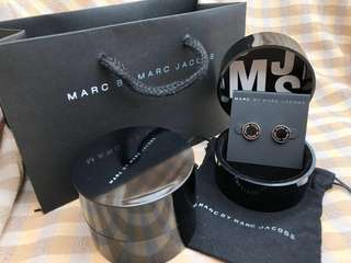 Marc By Marc Jacobs耳環(黑+銀色)