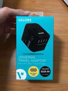 Universal Travel Adaptor with 4 port USD + 1 Type C output