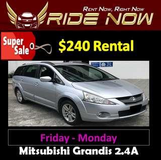 $240 Mitsubishi Grandis 2.4A Weekend SALE