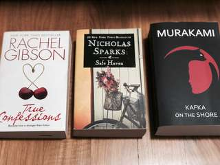Books - True Confessions, Safe Haven, Kafka on the Shore