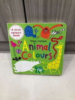 Animals Color board book