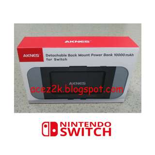 (BNIB) AKNES 10,000 mAh Nintendo Switch Detachable Battery Pack (Brand New Boxed)