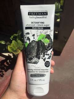 Freeman Detoxifying charcoal+black sugar Mud Mask