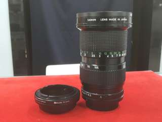 Canon Lens 35-105mm (FD Mount) + micro 4/3 adapter