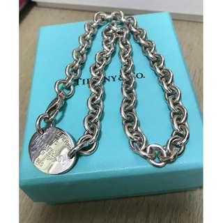 原價$35xx  Return to Tiffany Oval Tag Necklace