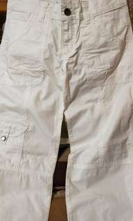 🚚 Roots 白色休閒長褲