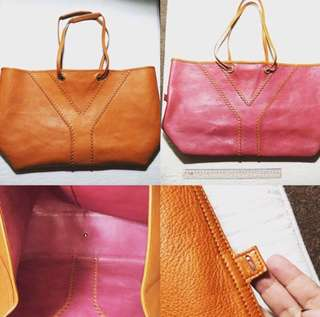 AUTHENTIC YSL OVERSIZED CALFSKIN REVERSIBLE TOTE