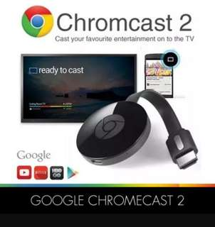(local 3 pin) Google Chromecast 2 ~ left 2 sets 🌷 FIXED PRICE $50