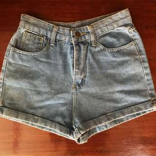 Highwaist Denim Shorts Size 24