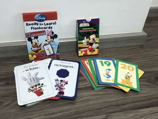 🚚 2 sets of Disney Flash Cards - Ready to Learn & Counting