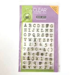 Hero arts alphabet number clear cling rubber stamp