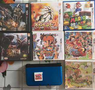 3DS LL + 8隻games
