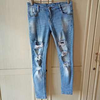 Denim Ripped Jeans 28-29 M