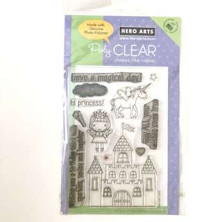 Hero arts magical castle princess girl birthday clear cling rubber stamp