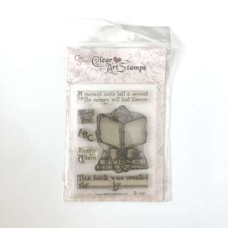 Crafty secrets story of me book clear cling stamp