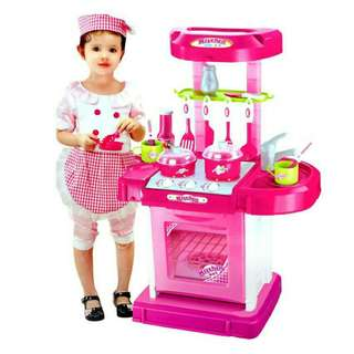 Portable kitchen playset with music n lamp